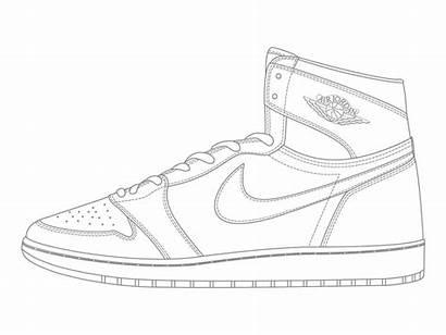 Jordan Coloring Air Pages Shoes Drawing Nike