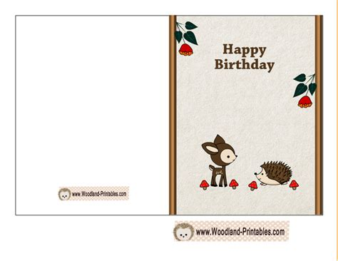 birthday card printables image collections free birthday cards free printable woodland birthday cards