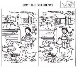 Spot the Difference Printable Worksheets