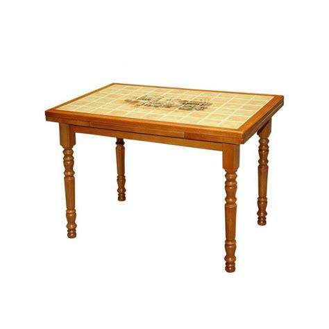 cdiscount table de cuisine table de cuisine rustique 110x70 carrelée canne achat
