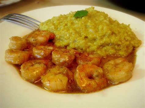 cuisiner gambas crevettes sauce miel soja mélisse riz coco curry ou