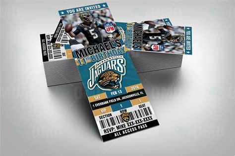 Jaguar Tickets by Sports Invites 2 5 215 6 Jacksonville Jaguars Football
