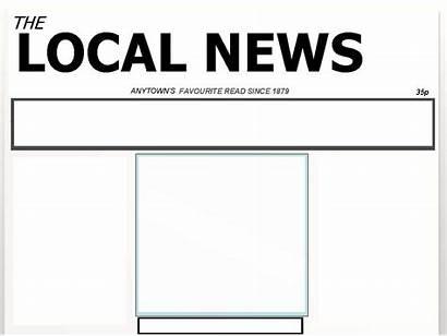 Newspaper Blank Template Templates Printable Clipart Headline