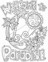 Paradise Welcome Template Coloring Pages Templates sketch template