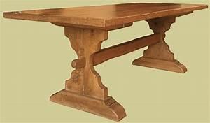 Trestle Table Bespole Handmade Solid Oak Medieval