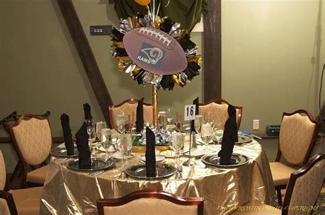 sports centerpieces for tables sports banquet centerpieces http www cool party favors