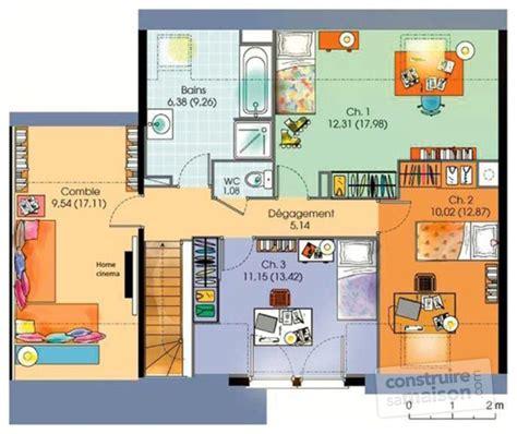plan maison etage 3 chambres gratuit maison contemporaine 5 dé du plan de maison