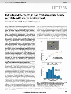 Pdf  Individual Differences In Non