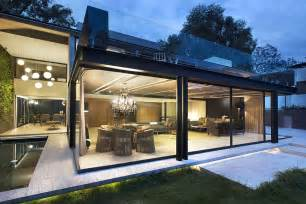 Glass Houses Designs by Home Expansion Adds Steel And Glass To Concrete Structure
