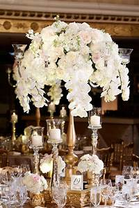 reception decor photos tall gold centerpiece with With orchid decorations for weddings