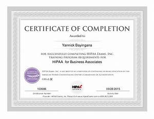 hipaa training certificate With hipaa training certificate template