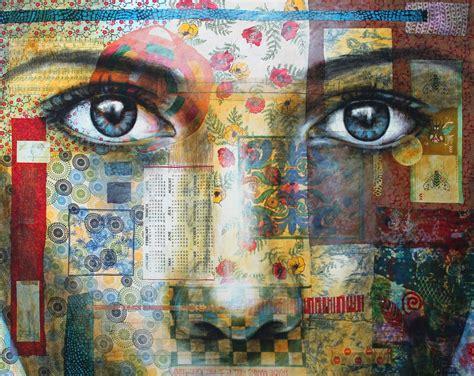 mixed media collage workshop  christine peloquin