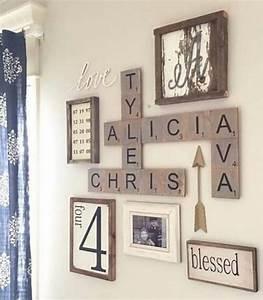Diy farmhouse living room wall decor and design ideas