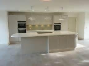 kitchen island breakfast bar matte handless ashwell contracts ltd