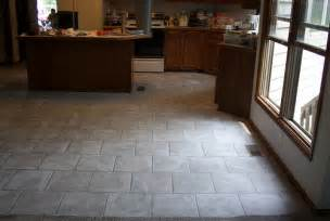 brick layed kitchen floor flickr photo