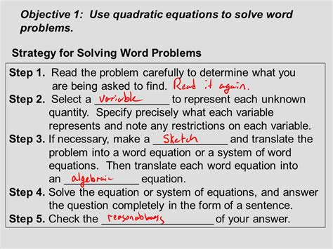 Section 74 Applications Of Quadratic Equations  Ppt Download