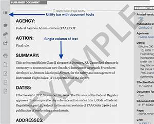 federal register reader aids recent site updates With government documents on health
