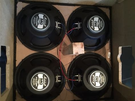 4x celestion g12 412mg from marshall mg series cabinet 8