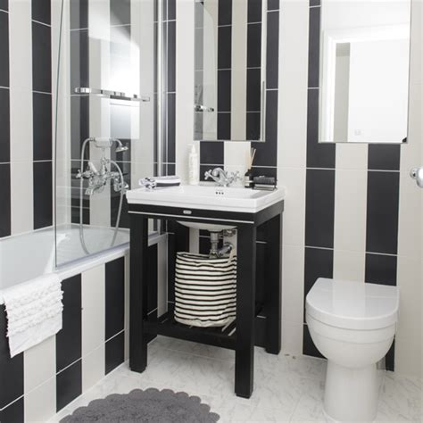 Floor Tile Ideas For Kitchen - black and white bathroom designs ideal home