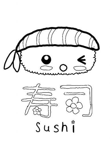 Kleurplaat Kawaii Food by Kawaii Food Sushi Coloring Pages Sketch Coloring Page
