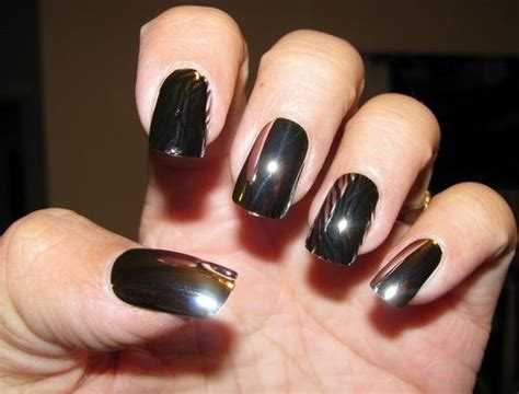 Black Chrome Nail Polish