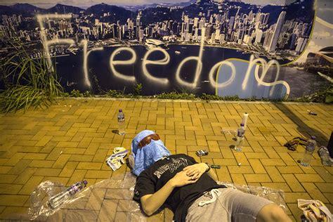 hong kong democracy protest key social media moments  umbrella revolution