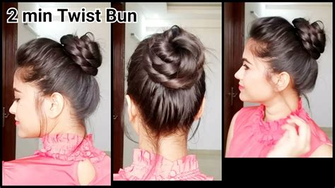 2 min twist bun everyday easy hairstyles for medium to