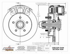 Kodiak Trailer Slip On Disc Brake Kit All Stainless Steel