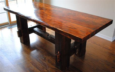 Custom Made Farm Table by Reclaimed State   CustomMade.com