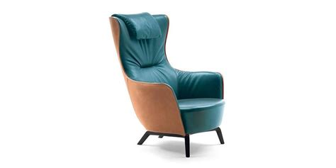 Mamy Blue High Back Chair Living By Poltrona Frau At The