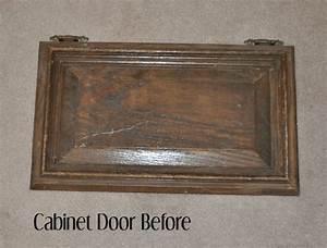 Repurposed Cabinet Door Towel Holder - Vintage Charm Restored