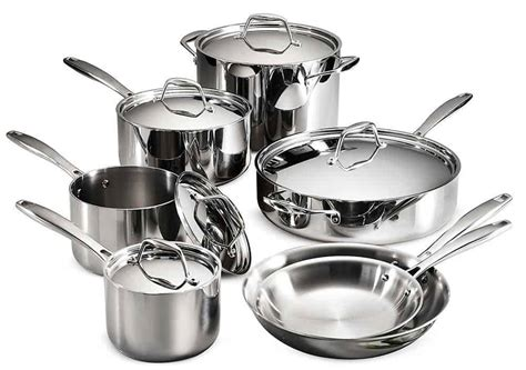 clad tramontina cookware induction ply stainless tri steel vs pans pots ready piece