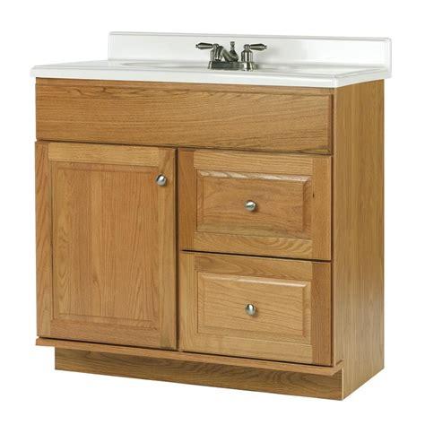 allen roth vanity cabinets shop allen roth castlebrook honey traditional bathroom