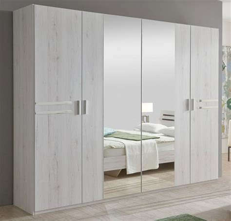 Mirrored Wardrobe With Drawers by Susan 4 Door Mirrored Wardrobe With Drawers Wimex Uk