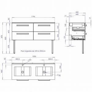 Plan De Meuble : meuble sous vasque seducta 120 cm 4 tiroirs blanc brillant ~ Melissatoandfro.com Idées de Décoration
