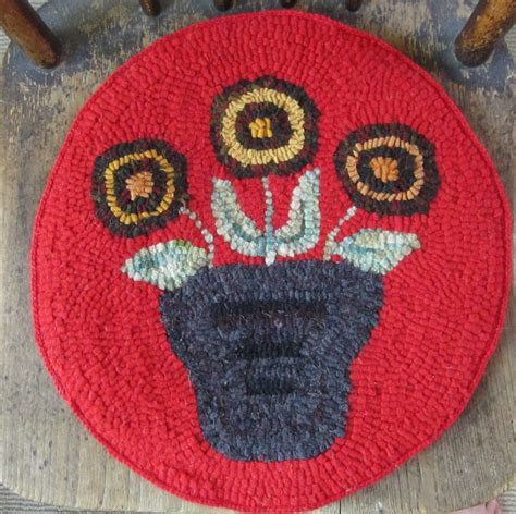 coral door studio rug hooked chair pads