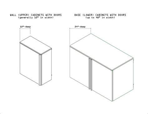 standard kitchen cabinet depth how to buy garage storage cabinets step 7 design a
