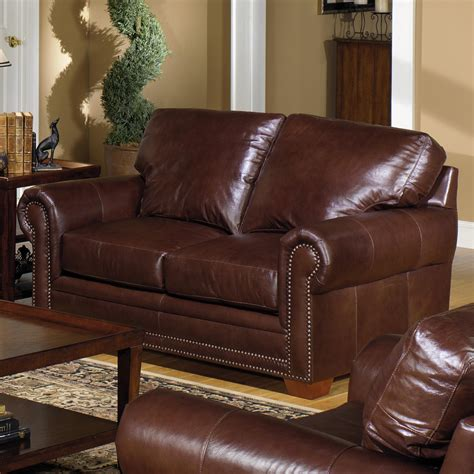loveseat leather sofa usa premium leather 7855 traditional leather stationary