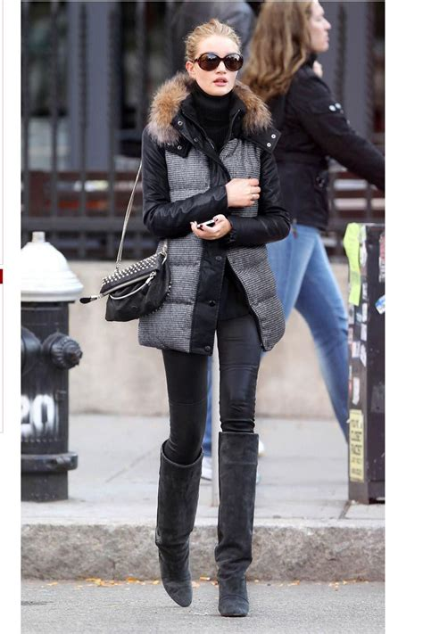 Cold Weather Style By Rosie Huntington Whiteley In 2019