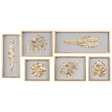 Uttermost Wall Pictures by Uttermost Alternative Wall Decor 04074 Golden Leaves
