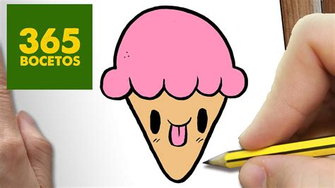 como dibujar helado kawaii paso  paso dibujos kawaii