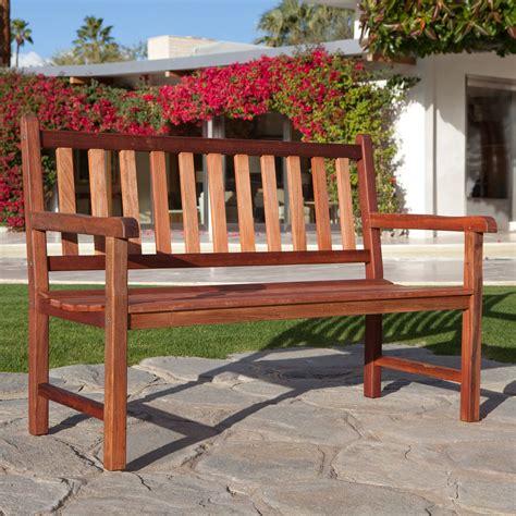 Wood Porch Bench - belham living richmond back 4 ft outdoor wood