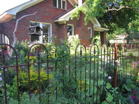 Cottage Garden Iron Fence  Cottage Garden Pinterest