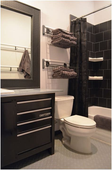 Modern Garage Bathroom Ideas by 10 Clever Ways To Store Towels Near The Shower Enclosure