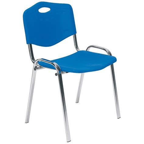 iso plastic chrome chair