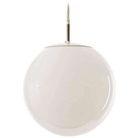 raak pendant light opal glass globe 1960s at 1stdibs