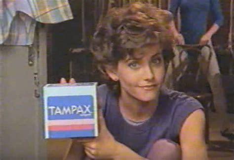 courteney coxs super  tampax commercial