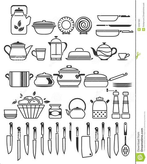 ustensile de cuisine kitchen tools and utensils vector illustration stock