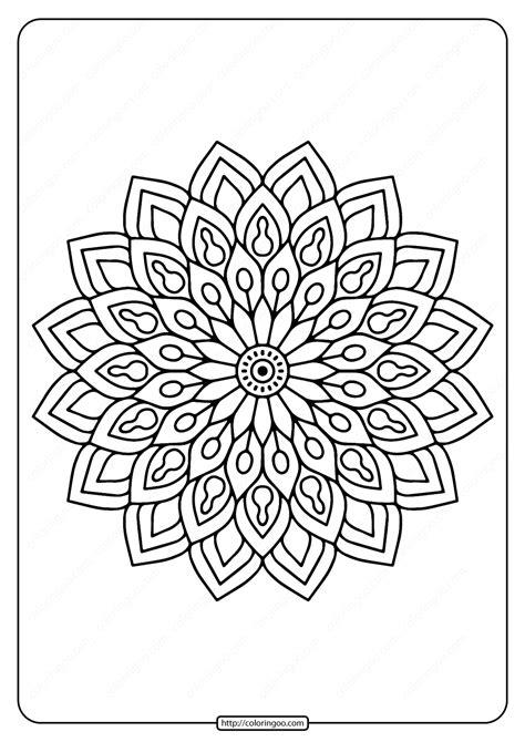printable flower mandala  coloring page