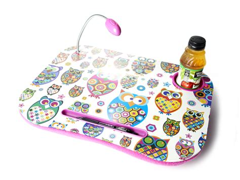 cushioned desk with light owl laptop cushion with light toys